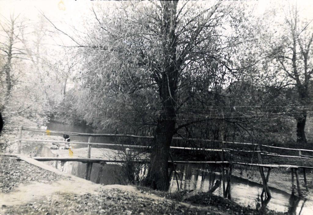 Кладка через річку Самець в Гопчиці