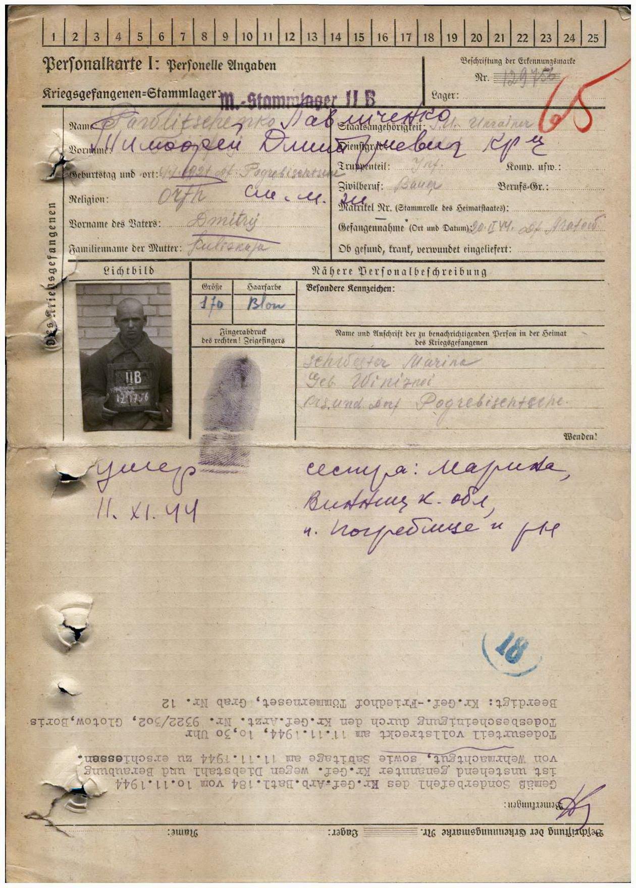 Павличенко Тимофій Дмитрович