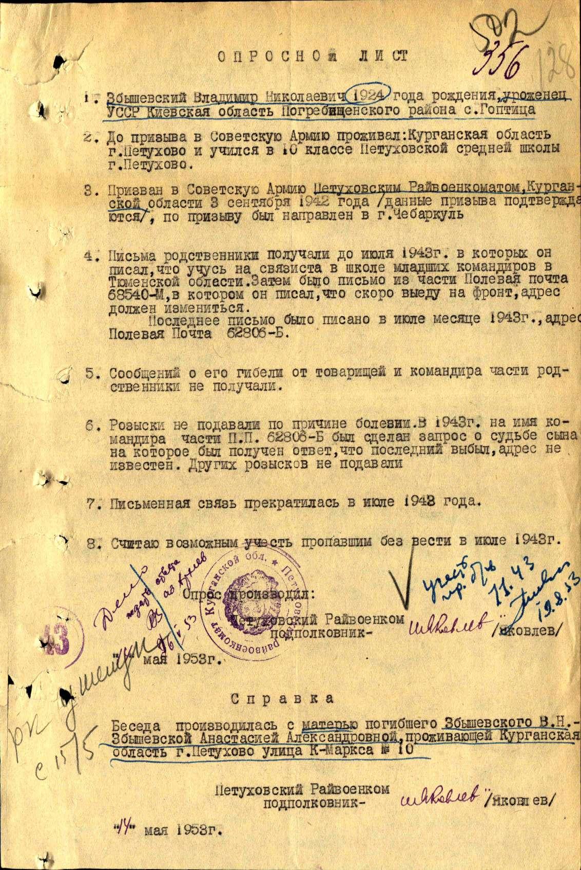 Збишевський Володимир Миколайович