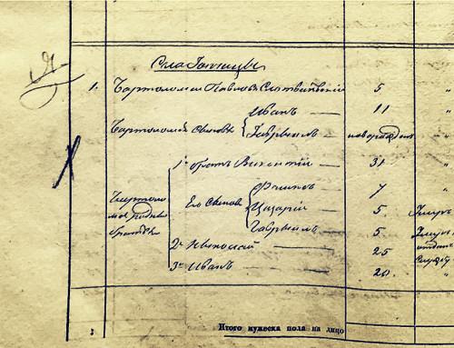 Шляхта в Гопчиці. Перепис однодвірців 1842 року