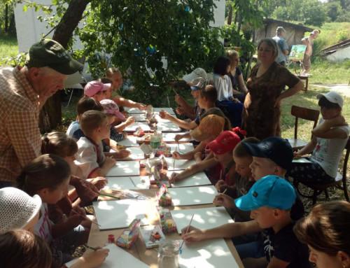 Художники в Гопчиці провели дітям майстер-клас із живопису
