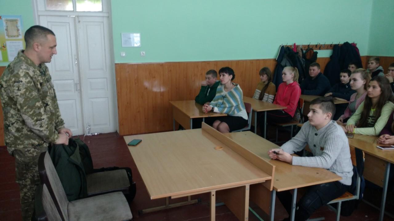 Старшокласникам розповіли про службу в ЗСУ та військову освіту