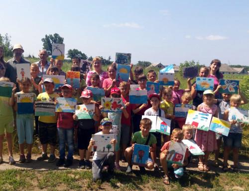 Художники провели дітям майстер-клас із живопису