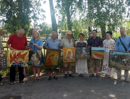 Митці презентували роботи обласного художнього пленеру в Гопчиці