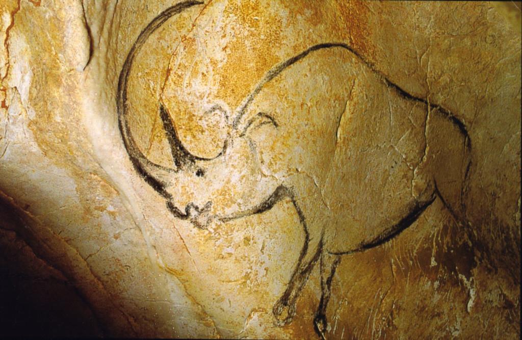 Зображення целодонта в печері Шове (Chauvet)