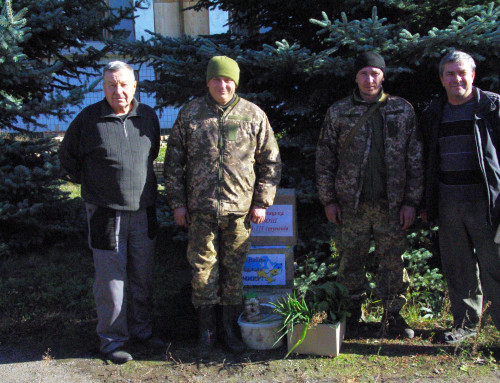 Волонтери привітали земляків на Донбасі з Днем захисника України