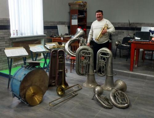 Будинку культури Гопчиці передали духові інструменти