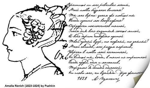 Амалія Різнич. Малюнок О. С. Рушкіна