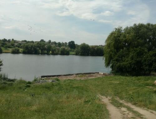 В Гопчиці укріпили берегову лінію на центральному ставку